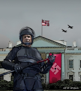 Bush's White House is a perfect fit for wanna-be Dictator McCain
